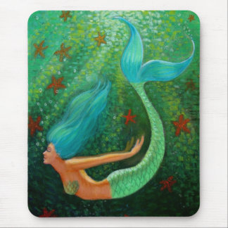 Diving Mermaid Mouse Pad