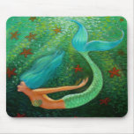 Diving Mermaid Mouse Pads