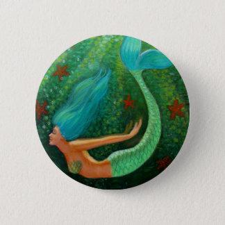 Diving Mermaid Pinback Button