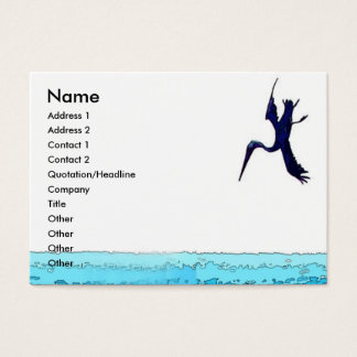 Diving Pelican Card