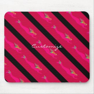 diving pink mermaids mouse pad
