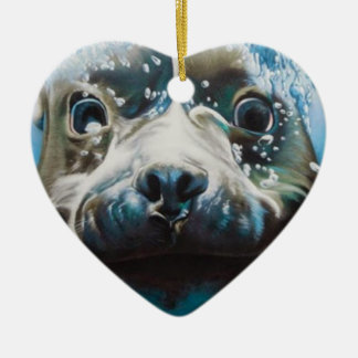 Diving pitbull design ceramic ornament