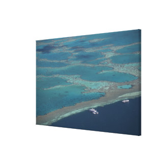 Diving platforms near reef, Great Barrier Canvas Print