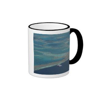 Diving platforms near reef, Great Barrier Ringer Coffee Mug