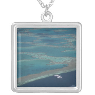 Diving platforms near reef, Great Barrier Silver Plated Necklace