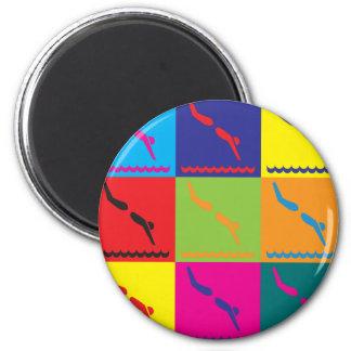 Diving Pop Art Magnet