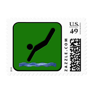 Diving Postage Stamp