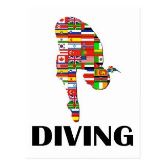 Diving Postcard