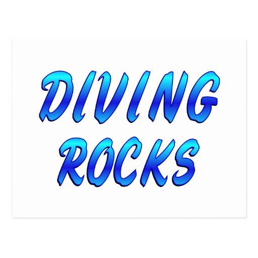 DIVING ROCKS POSTCARD