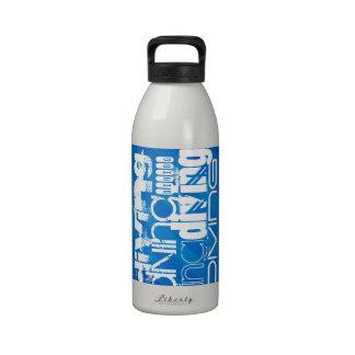 Diving; Royal Blue Stripes Drinking Bottles