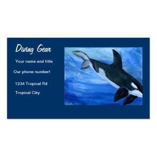 Diving shop gear Business Card