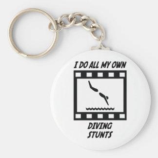 Diving Stunts Keychain