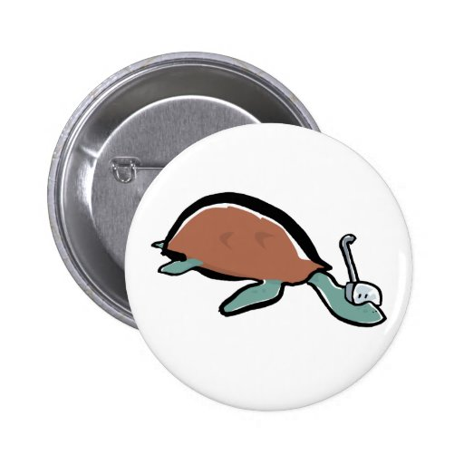 diving tortoise button