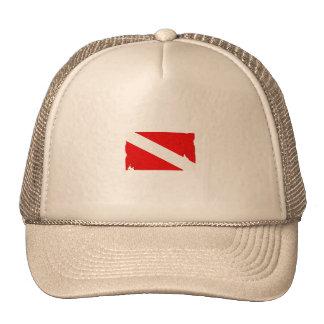diving trucker hat