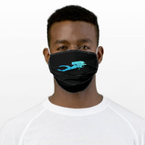Diving Underwater Dive Gift for Diver Adult Cloth Face Mask