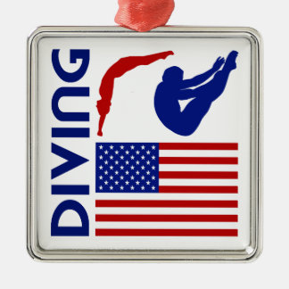 Diving United States Metal Ornament