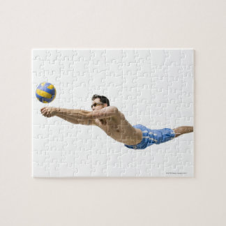 Diving volleyball player puzzles