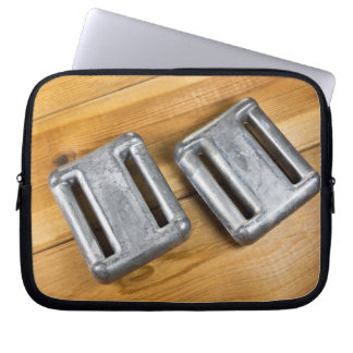 Diving weights laptop sleeve