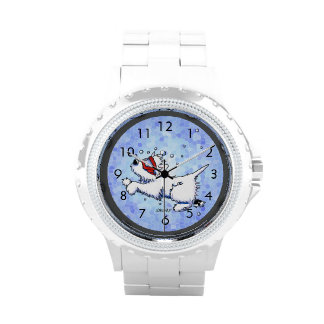 Diving Westie Wrist Watch