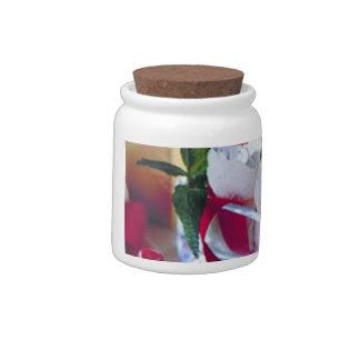 Divinidad de la cereza tarro de cerámica para dulces