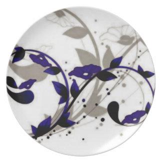Divinidad púrpura plato para fiesta