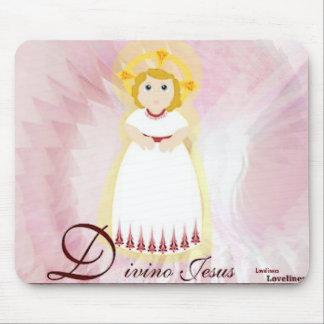 Divino Jasus Dazzling LoveBurgundy Angel's Wings Mouse Pad