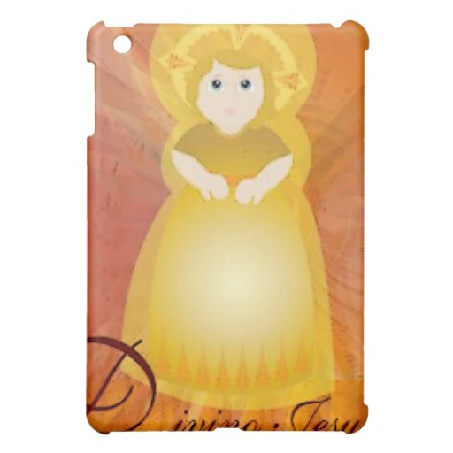 """""""Divino Jesus"""" Dazzling Love Fiery Angel's Wings Cover For The iPad Mini"""