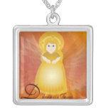 Divino Jesus Dazzling Love Fiery Angel's Wings Necklace