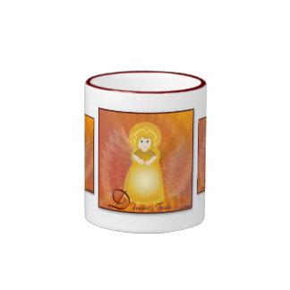 Divino Jesus Dazzling Love Fiery Angel's Wings Ringer Coffee Mug