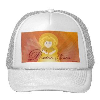 Divino Jesus Dazzling Love Fiery Angel's Wings Trucker Hat