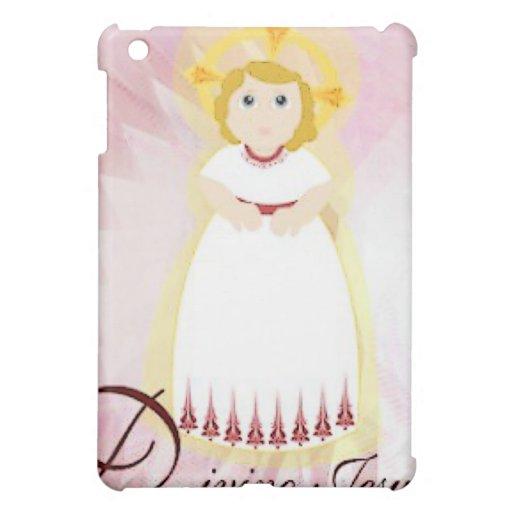 """Divino Jesus"" Dazzling LoveBurgundy Angel's Wings Cover For The iPad Mini"