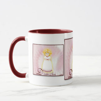 Divino Jesus Dazzling LoveBurgundy Angel's Wings Mug