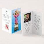 Divino Nino Jesus Funeral Prayer Card Personalized