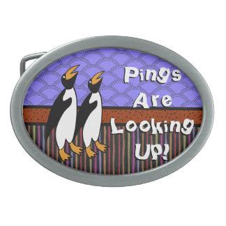 Divirtiéndose con los pingüinos (hebilla del cintu hebilla cinturón