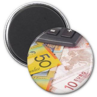 Divisas - Australia y pares euro de la moneda Imán Redondo 5 Cm