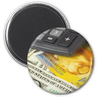 Divisas - los E.E.U.U. y pares suizos de la moneda Imán Redondo 5 Cm