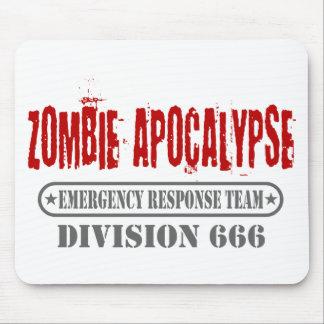 División 666 de la apocalipsis del zombi tapetes de ratones