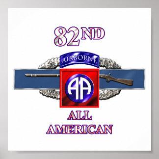 división aerotransportada 11B 82.o Poster