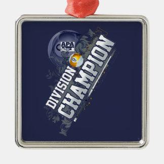 Division Champion 9-Ball Metal Ornament