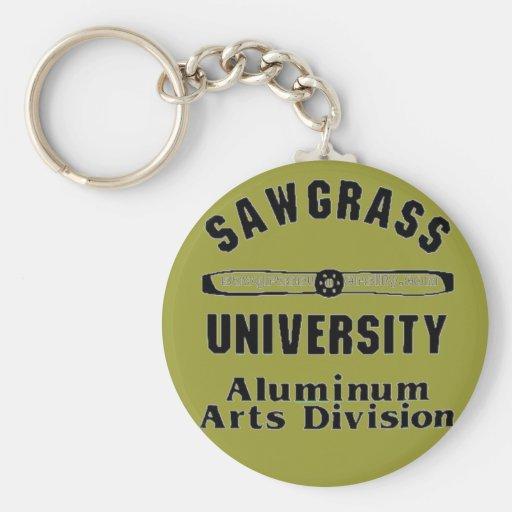 División de aluminio de los artes de la universida llaveros