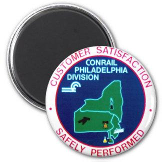 División de Conrail Philadelphia Imán Redondo 5 Cm