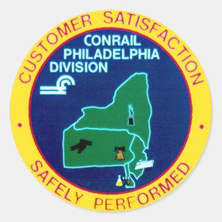 División de Conrail Philadelphia Etiquetas Redondas