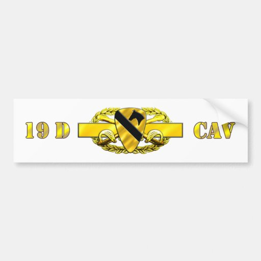 división de la caballería 19D 1r Pegatina Para Auto