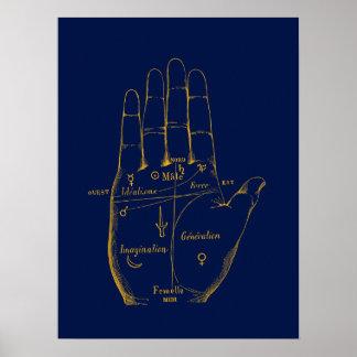 División de la mano posters