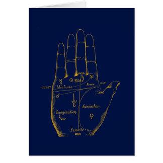 División de la mano tarjeta de felicitación