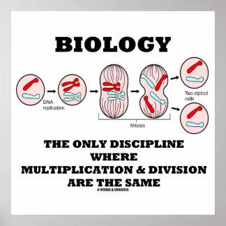 División de la multiplicación de la disciplina de póster