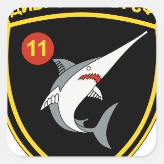 División Nordmeerflotte de Abzeichen 11 de la Pegatina Cuadrada