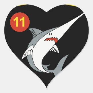 División Nordmeerflotte de Abzeichen 11 de la Pegatina En Forma De Corazón