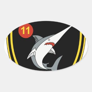 División Nordmeerflotte de Abzeichen 11 de la Pegatina Ovalada