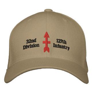 división roja de la flecha gorra de béisbol